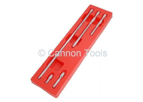 "5Pc 3/8"" Drive Wobble Bar Extension Set Extra Long Wrench Spanner Tool"
